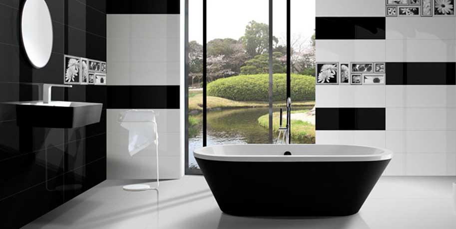 Black & White Tiles Bathroom Installation