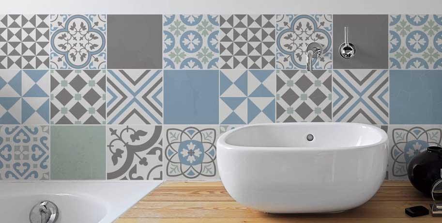 Graphic Pattern Bathroom Inspiration