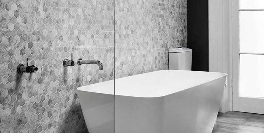 Honeycomb Tile Bathroom Ideas