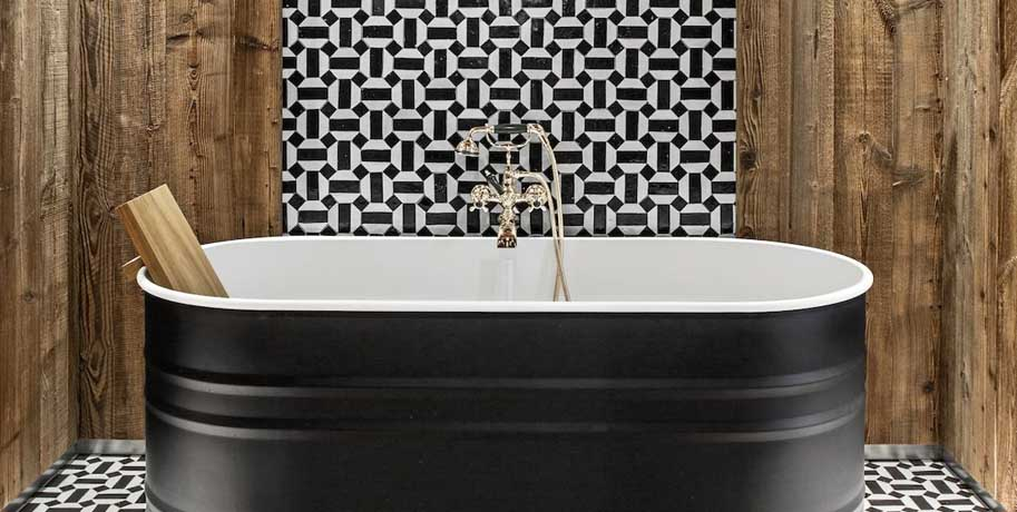 Large Graphic Patterns Ideas for Small Bathrooms