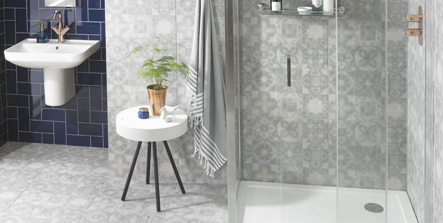 Small Bathroom Ideas Match the Floor Walls and Ceiling