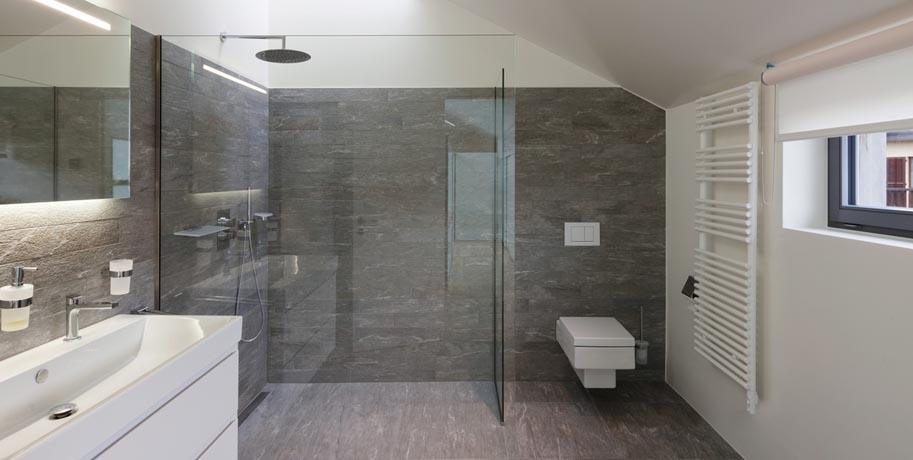 Textured Glass Shower Walls Design Ideas